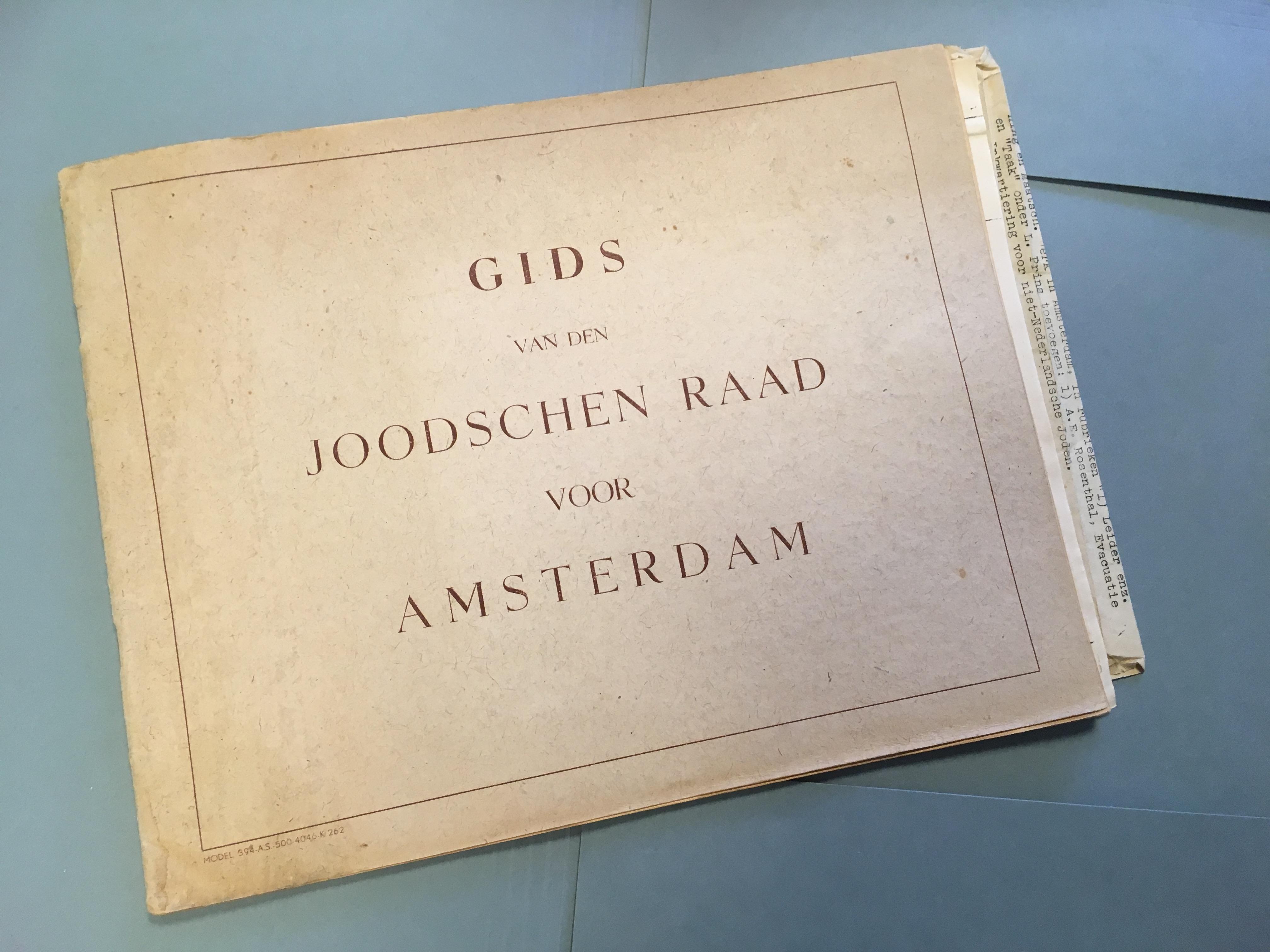 COLUMN: Gids voor den Joodschen Raad voor Amsterdam